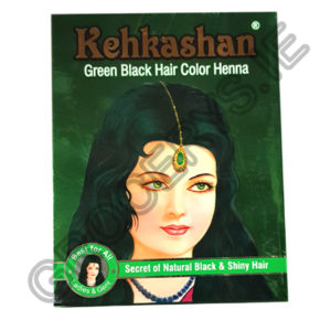 kehkashan_green black hair color henna